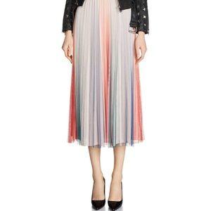 Maje Jonaelo Pleated Chiffon Skirt